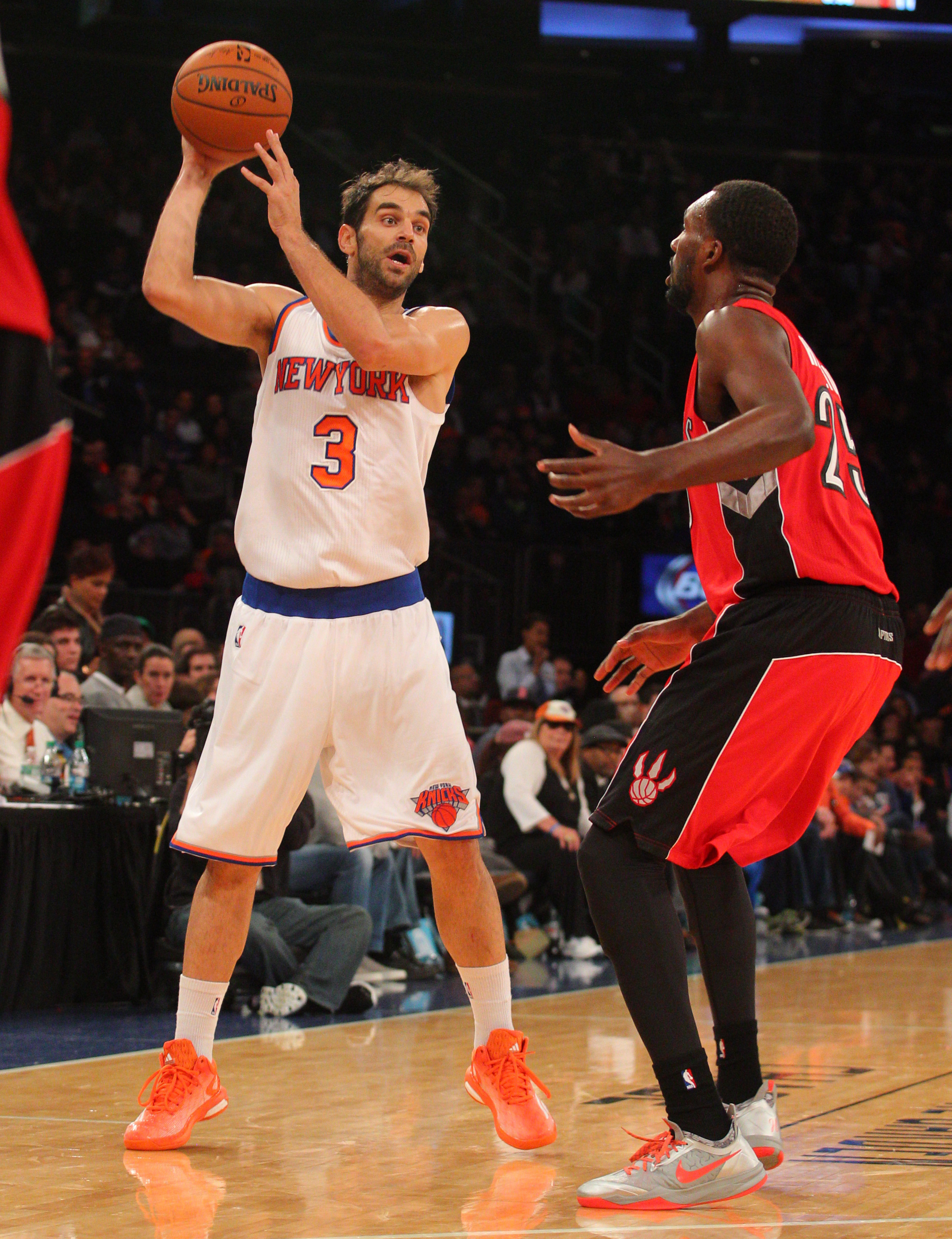 Jose Calderon's regular-season Knicks debut will come later than expected. (Brad Penner-USA TODAY Sports)
