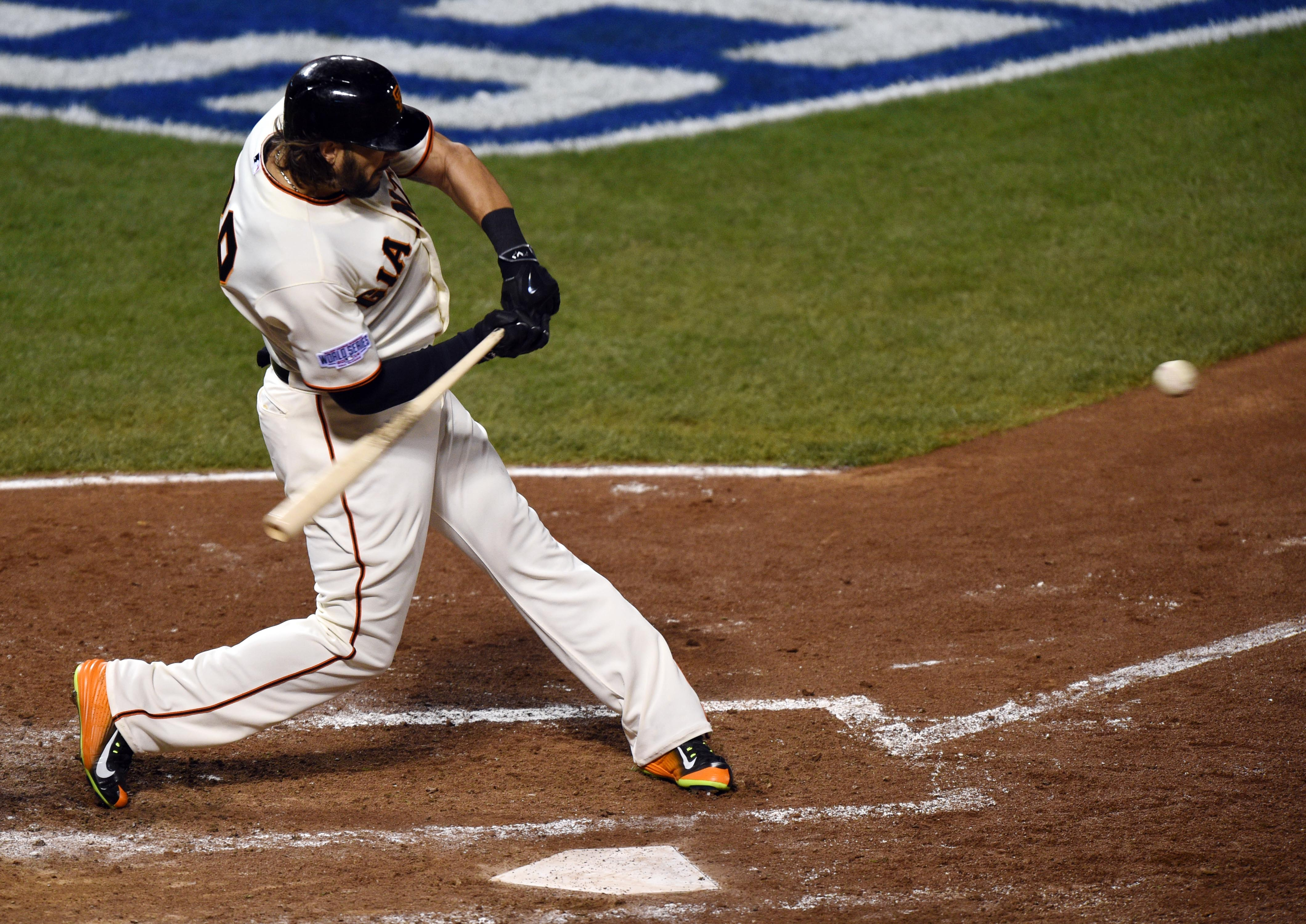 Michael Morse came off the bench with a big hit for the Giants. (USA TODAY Sports)