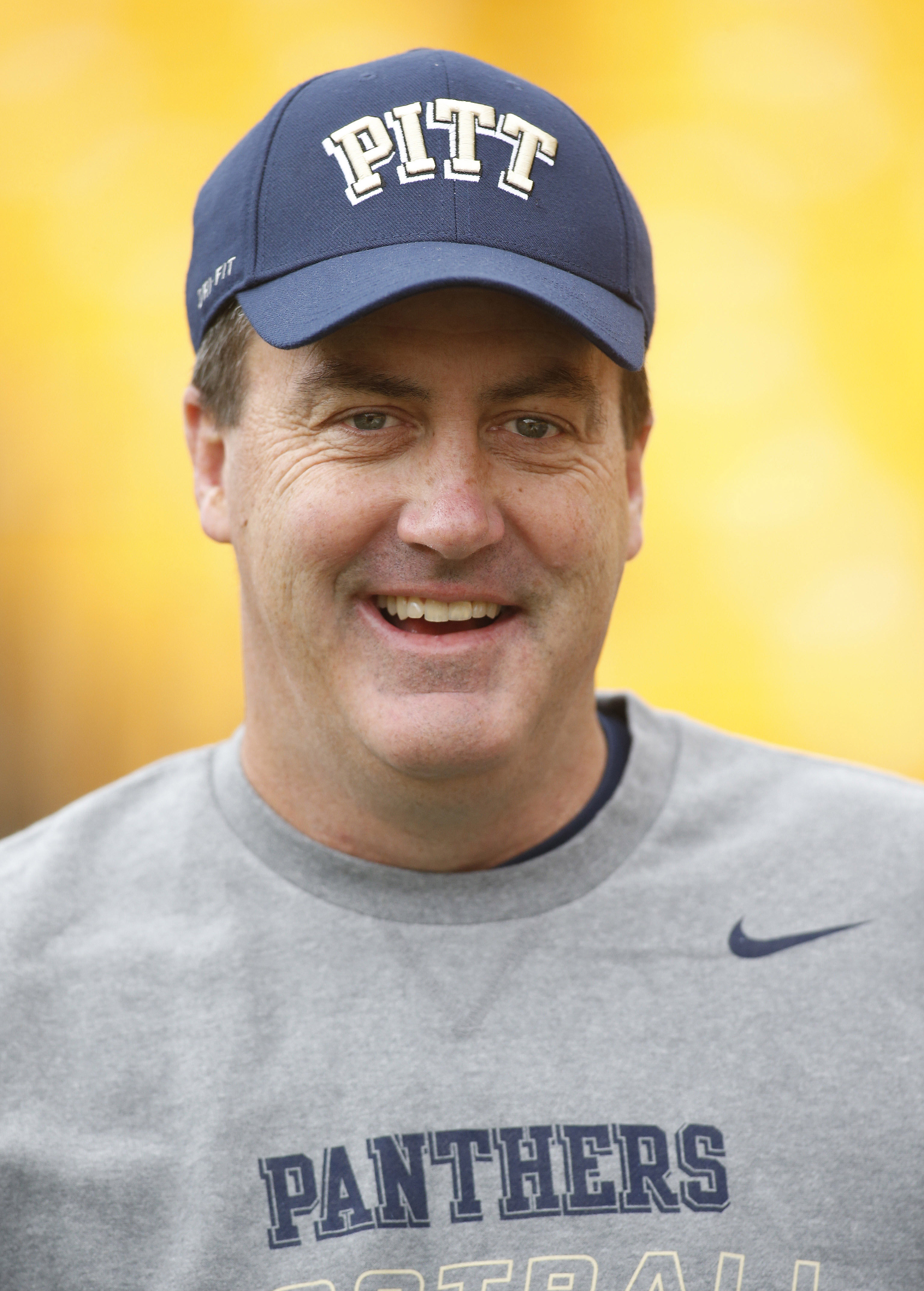 Nov 1, 2014; Pittsburgh, PA, USA; Pittsburgh Panthers head coach Paul Chryst on the field before hosting the Duke Blue Devils at Heinz Field. (Charles LeClaire-USA TODAY Sports)
