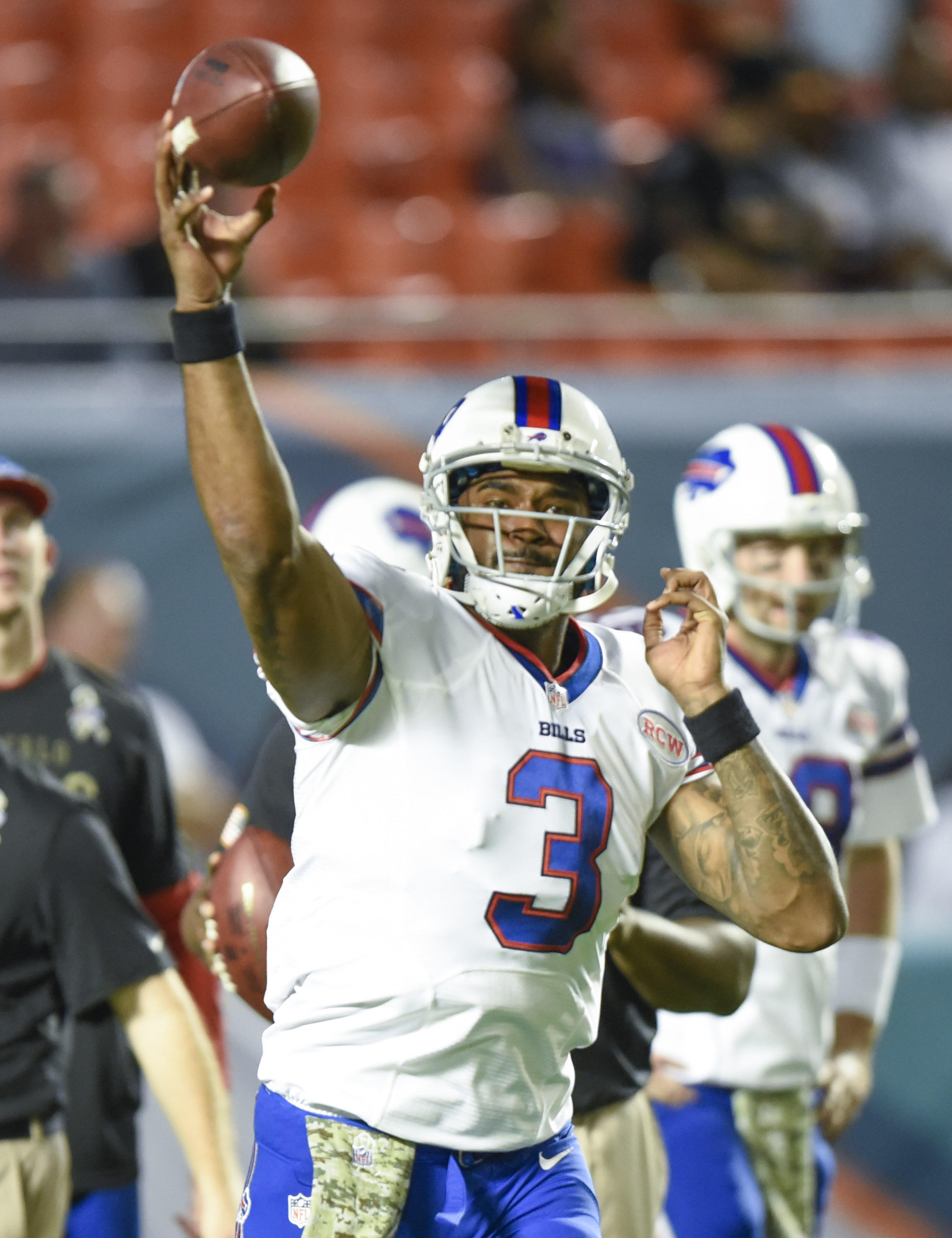 It's unclear if EJ Manuel will be the Week 1 starter in Buffalo. (USA TODAY Sports)