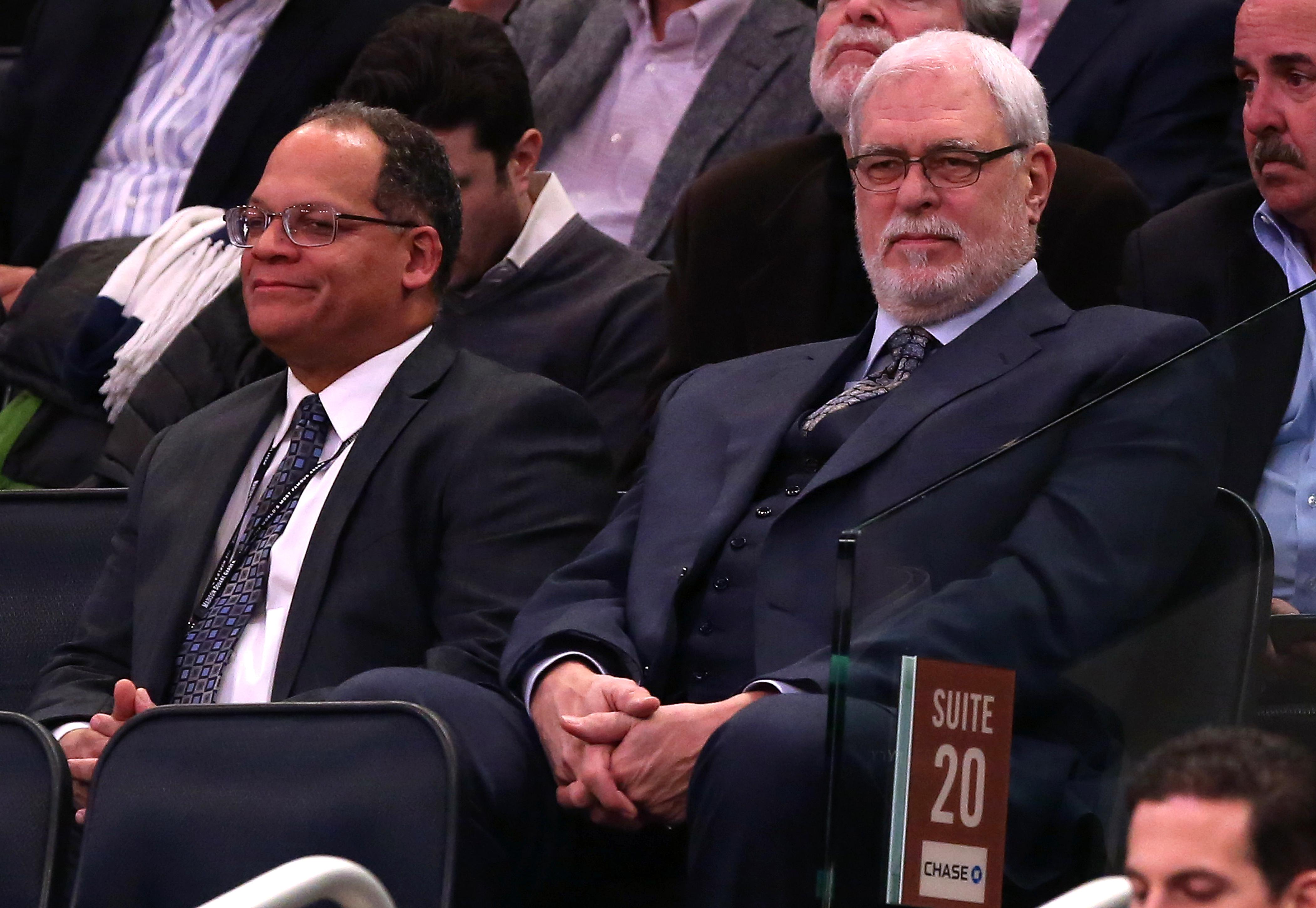 Phil Jackson is not ROFL. Not even a little bit. (Adam Hunger-USA TODAY Sports)