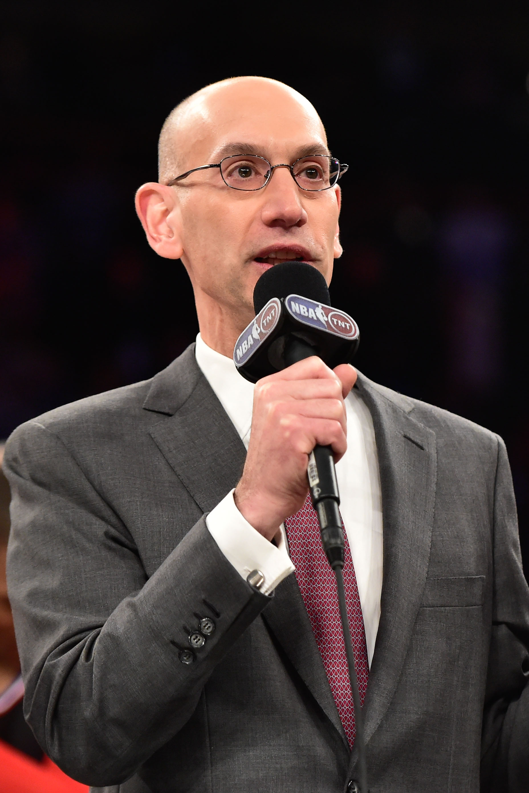 The union apparently didn't buy what NBA Commissioner Adam Silver was selling. (Bob Donnan-USA TODAY Sports)