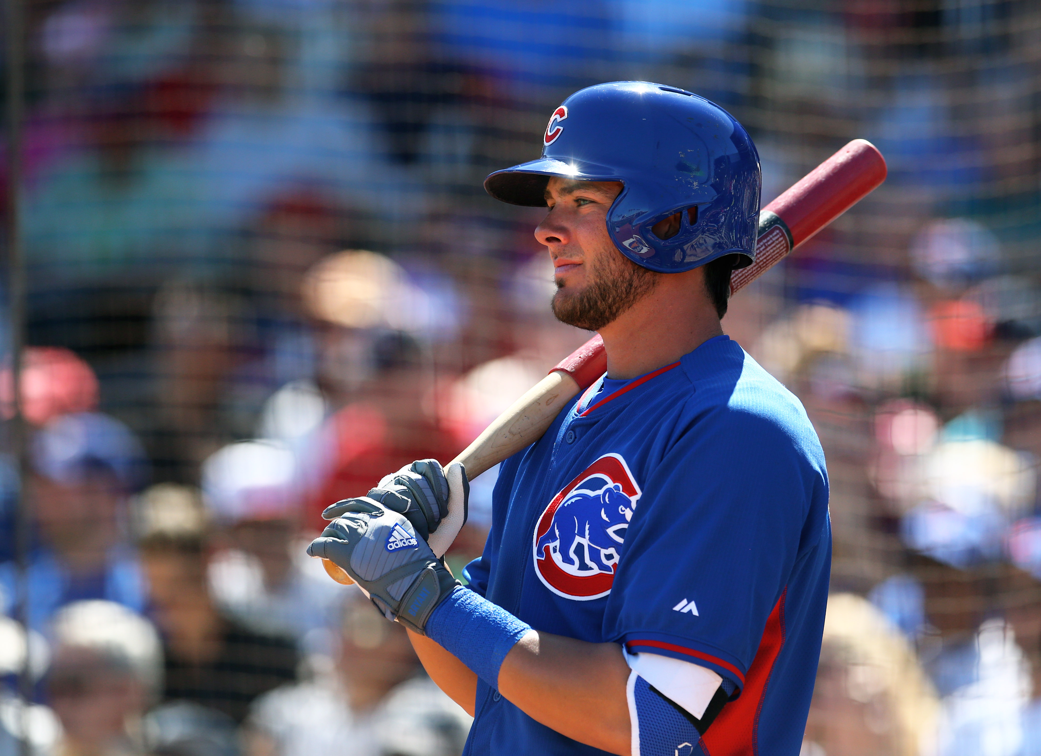 Cubs prospect Kris Bryant's prodigious power has been on display this spring. (USAT)