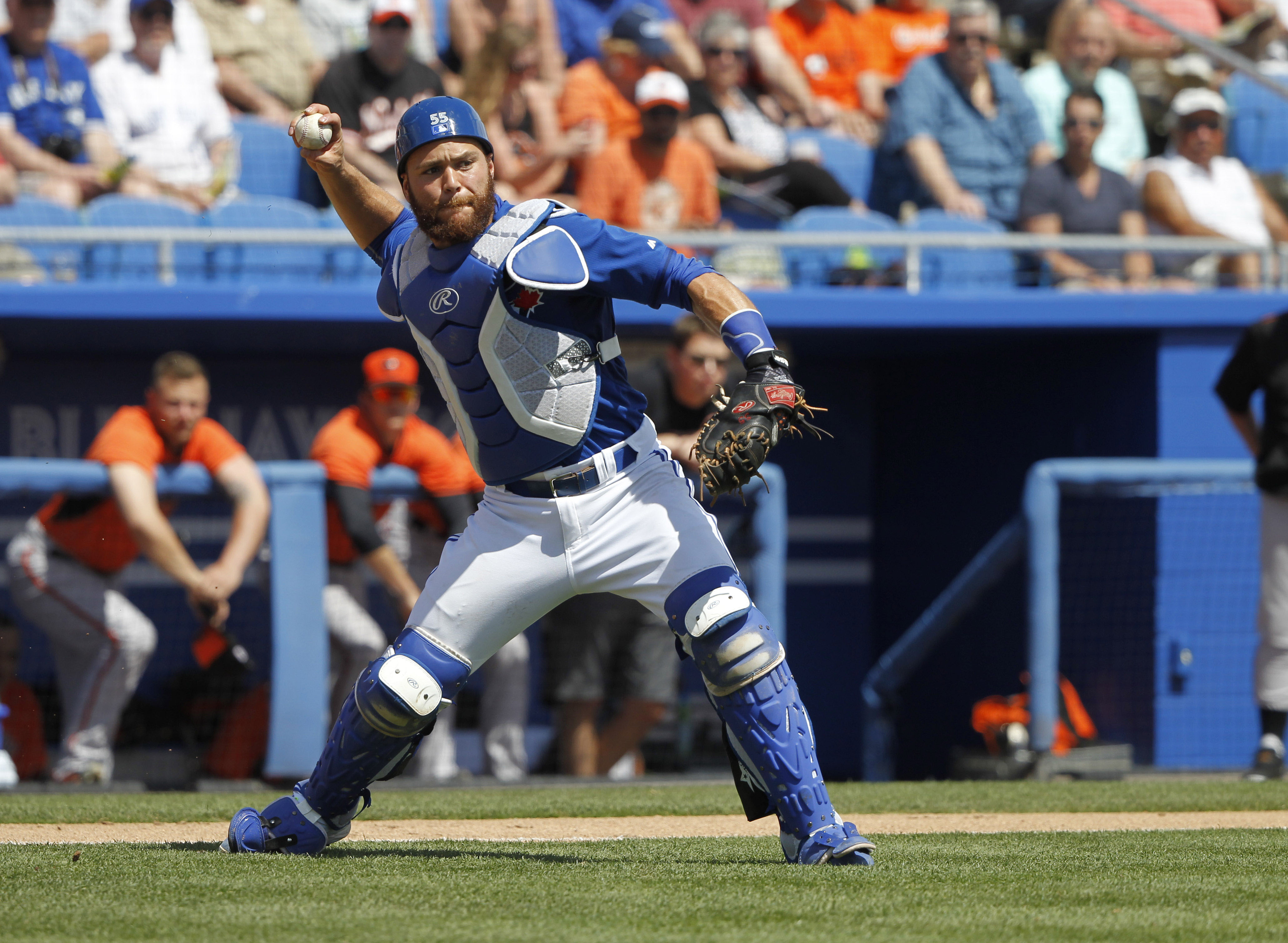 New Blue Jays catcher Russell Martin. (USA TODAY Sports)
