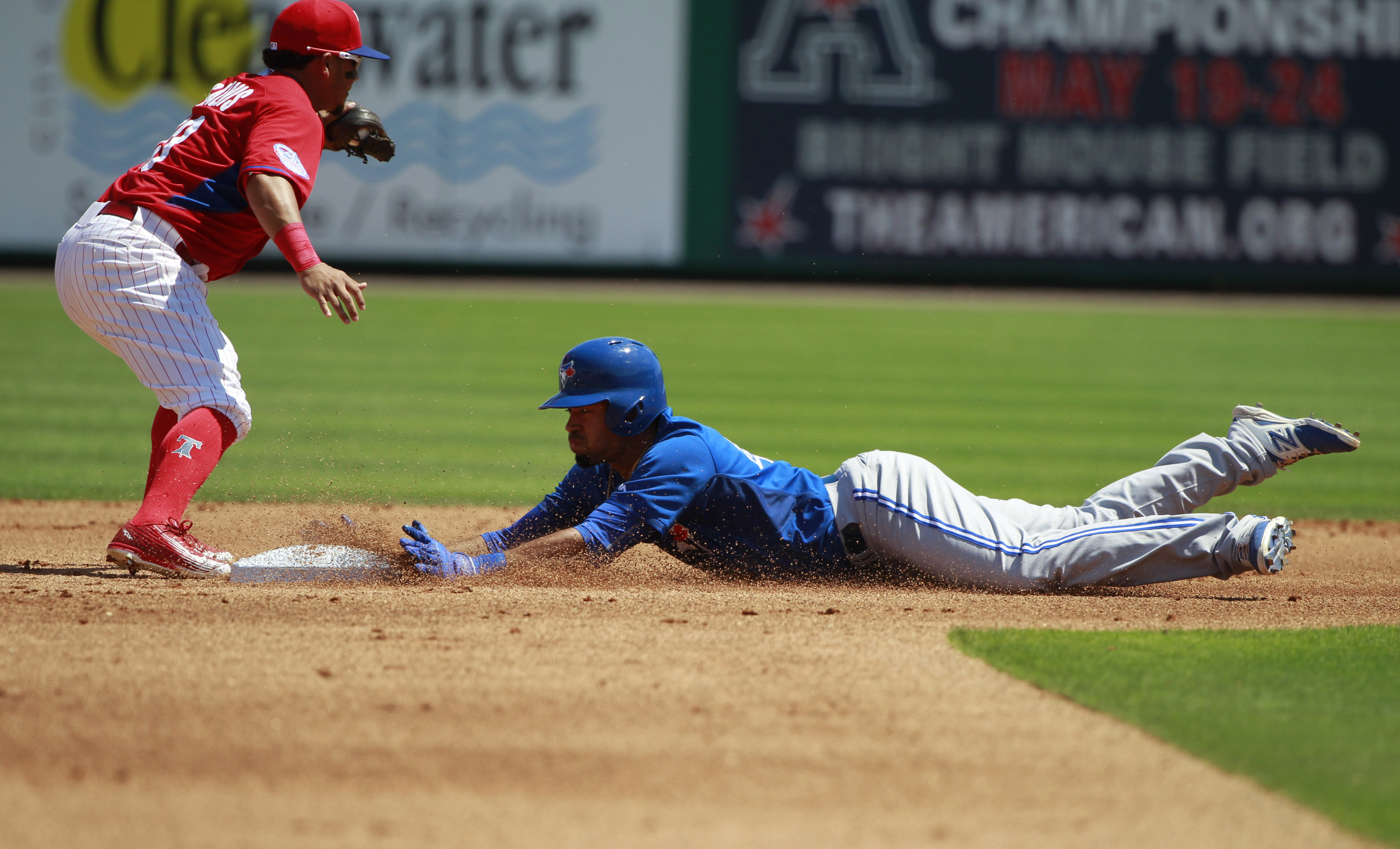 Dalton Pompey, notable source for cheap speed. (Kim Klement-USA TODAY Sports)