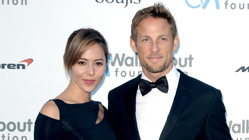 Jenson Button and his wife Jessica were allegedly burgled while on holiday in a rented villa in St Tropez.