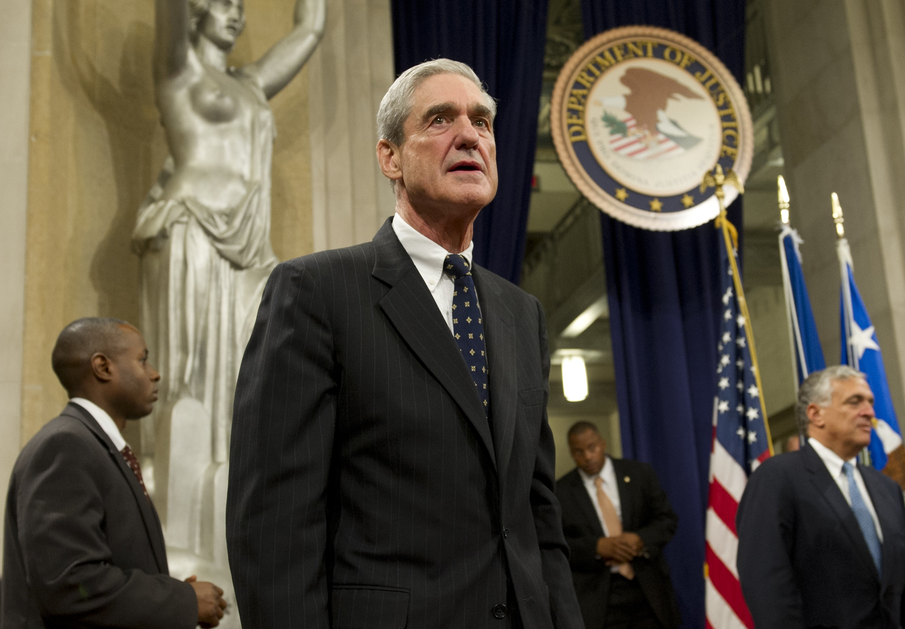 Former FBI director Robert Mueller at the Department of Justice on Aug. 1, 2013. (AFP Photo)