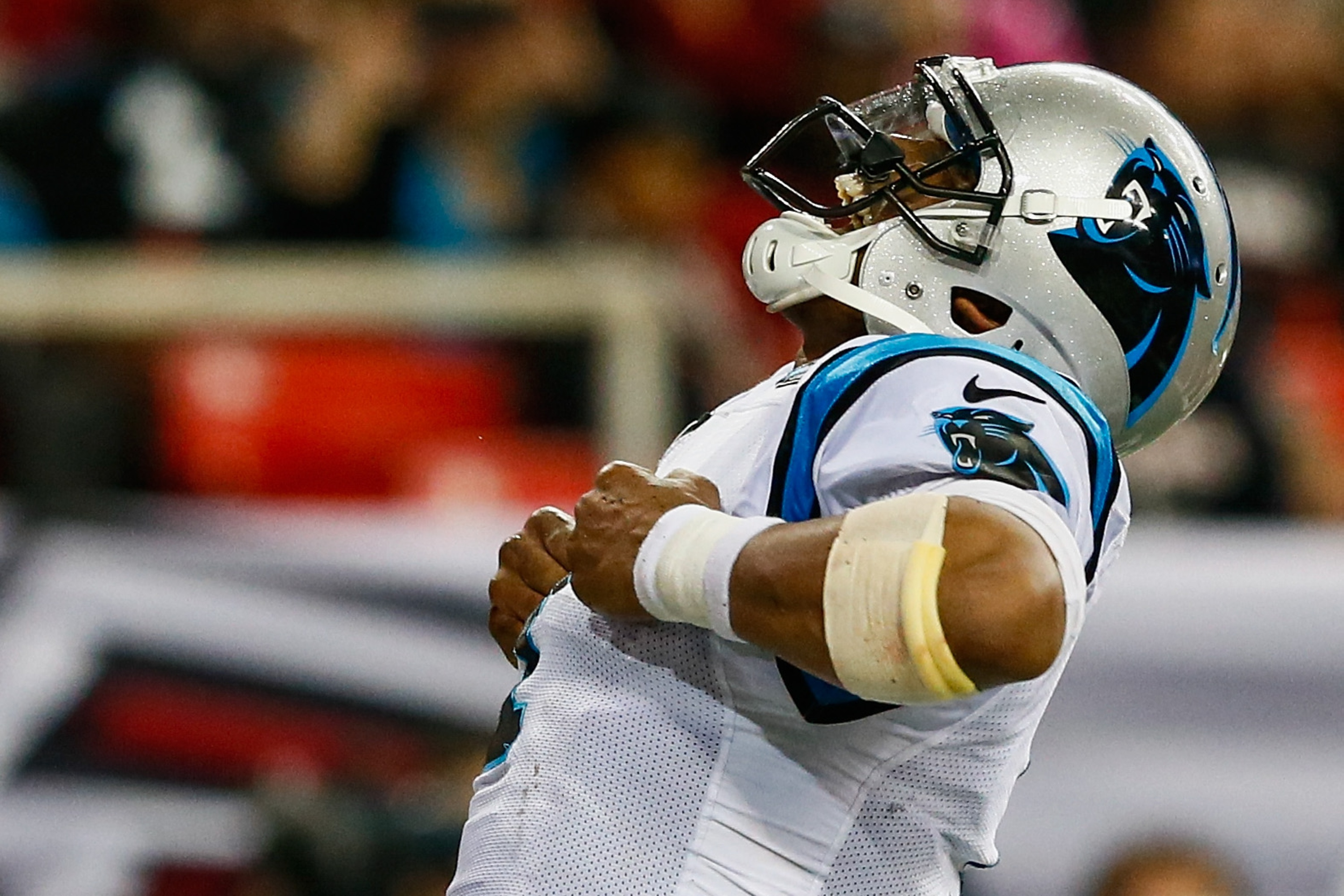 'Super' Cam made only sparse appearances last year. Still, he's considered a top-10 passer in fantasy. (Getty)