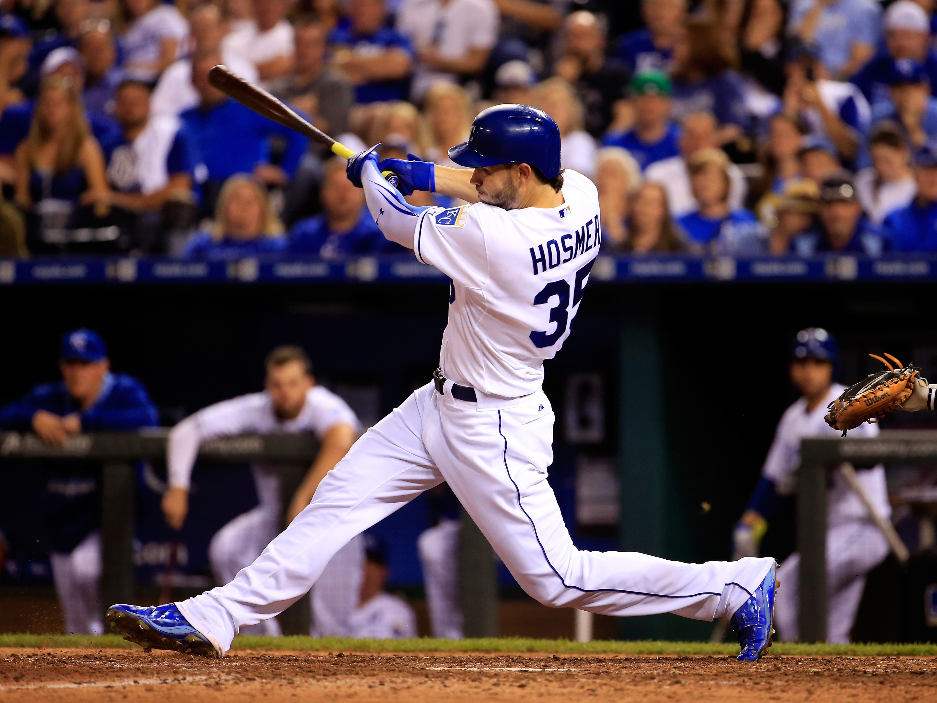 Eric Hosmer, a nearly flawless hitter. (Getty)