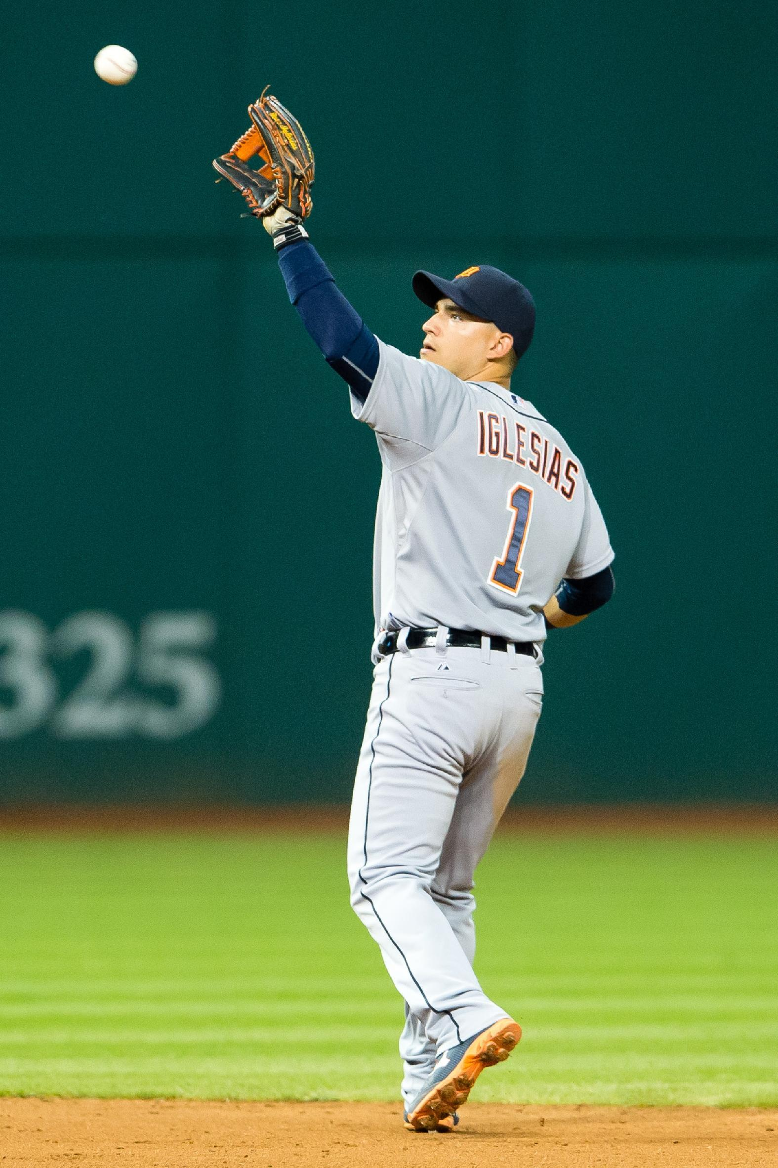 Jose Iglesias, not Alcides Escobar, was the players' vote for AL shortstop. (Getty Images)