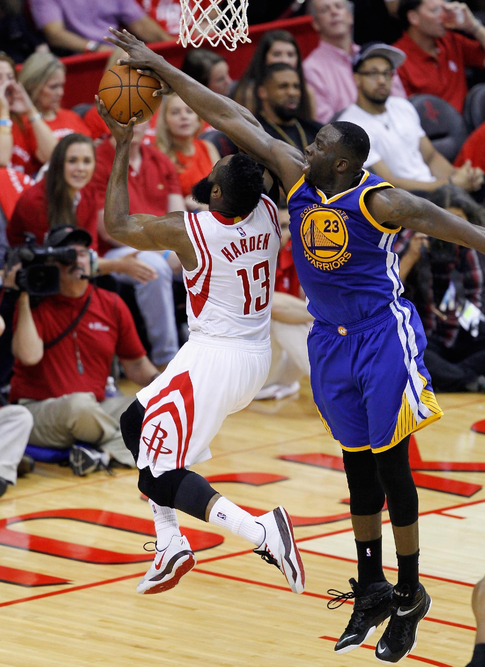 Rockets use incredible 1st quarter, Harden's 45 to avoid Warrio…