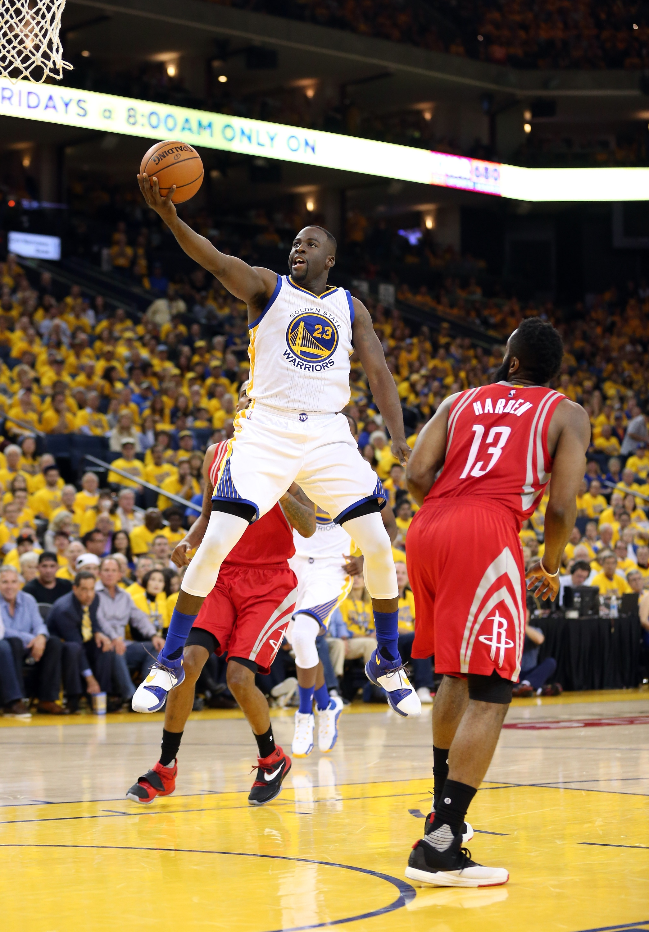 Draymond Green will be the leader at both ends with Curry sidelined. (Ezra Shaw/Getty Images)