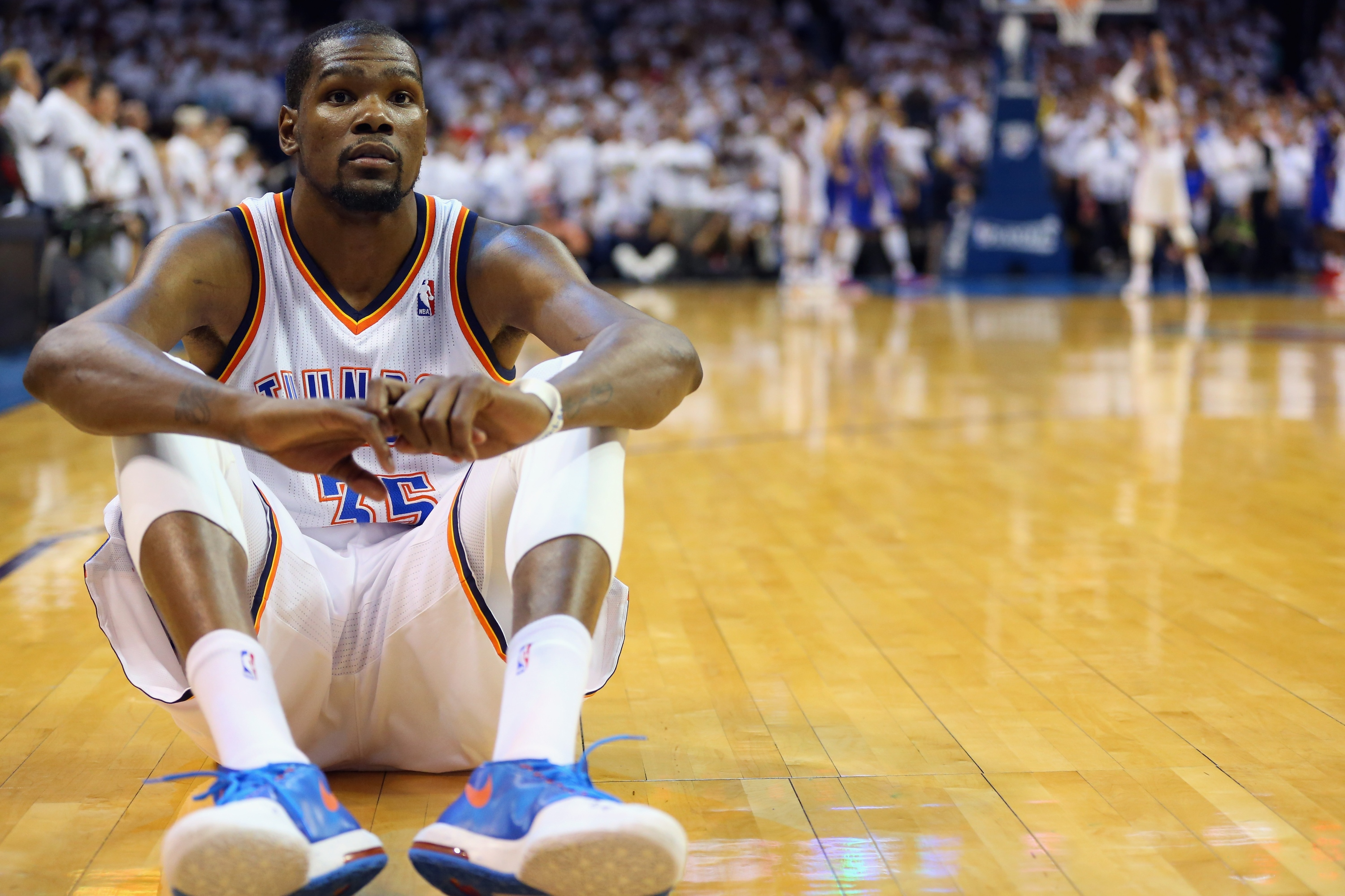 Kevin Durant couldn't stand to watch the Russell Westbrook free…