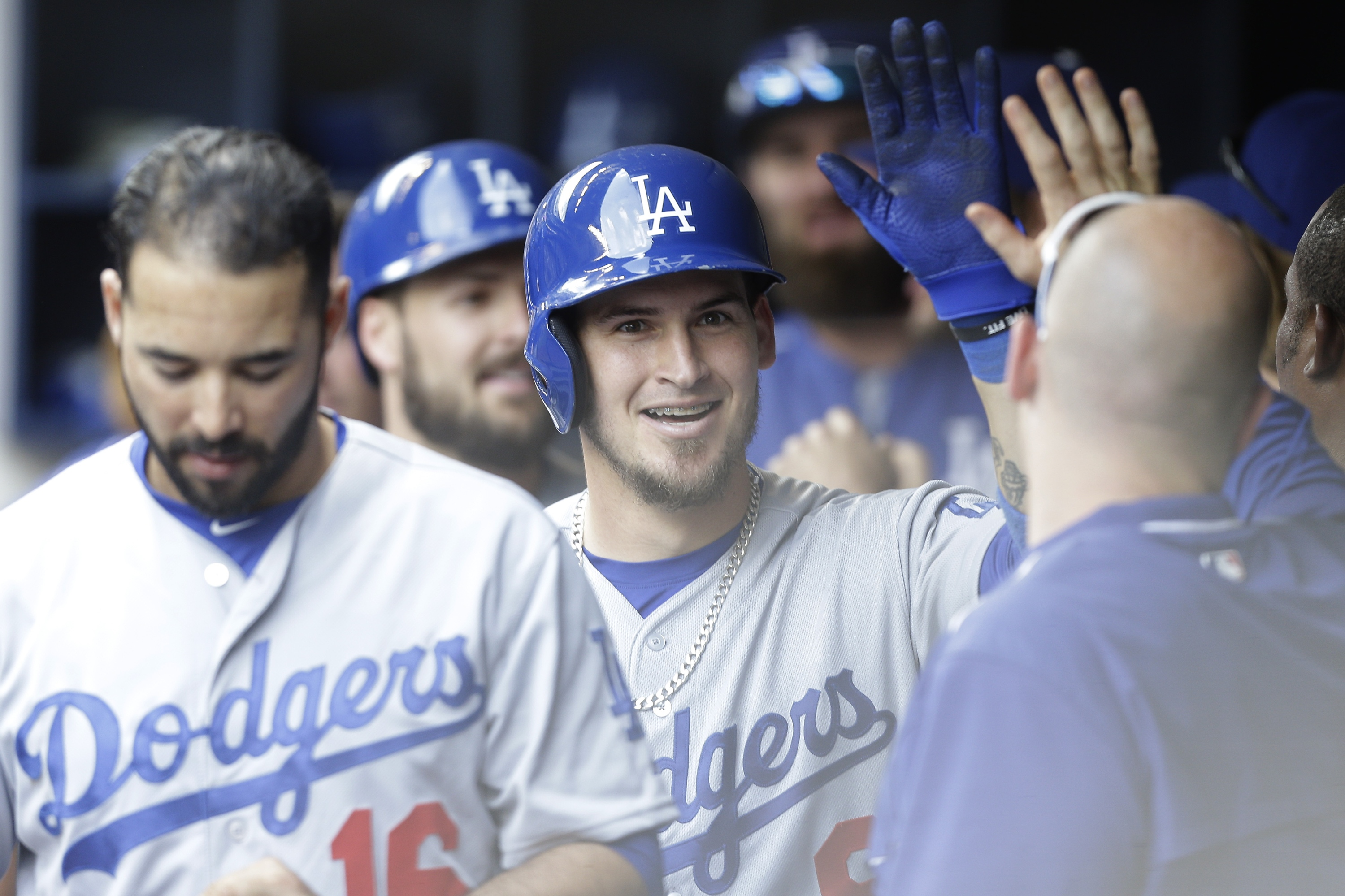 Not a bad day, Yasmani Grandal (Photo by Mike McGinnis/Getty Images)