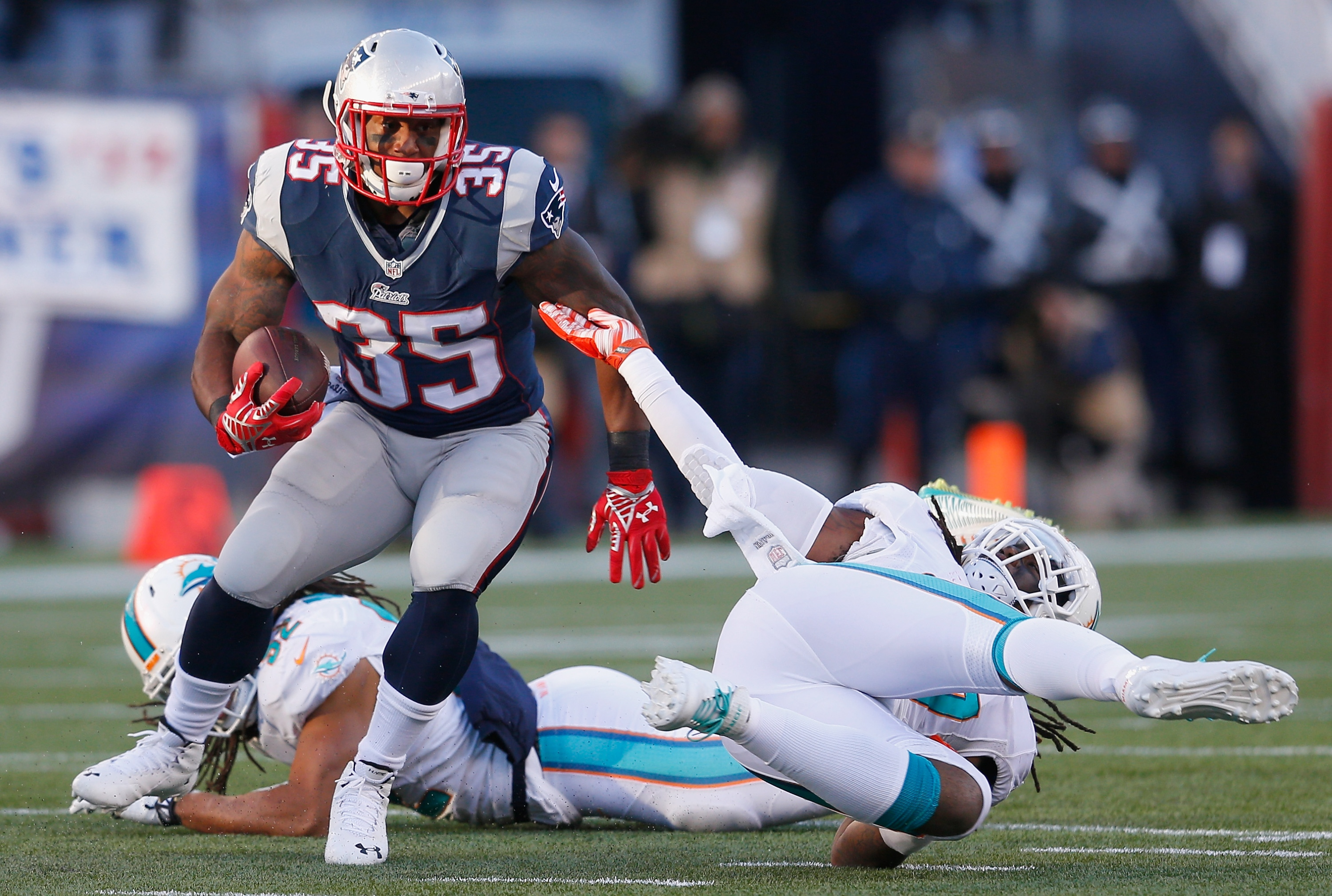 Jonas Gray is a wildcard in New England. (Getty Images)