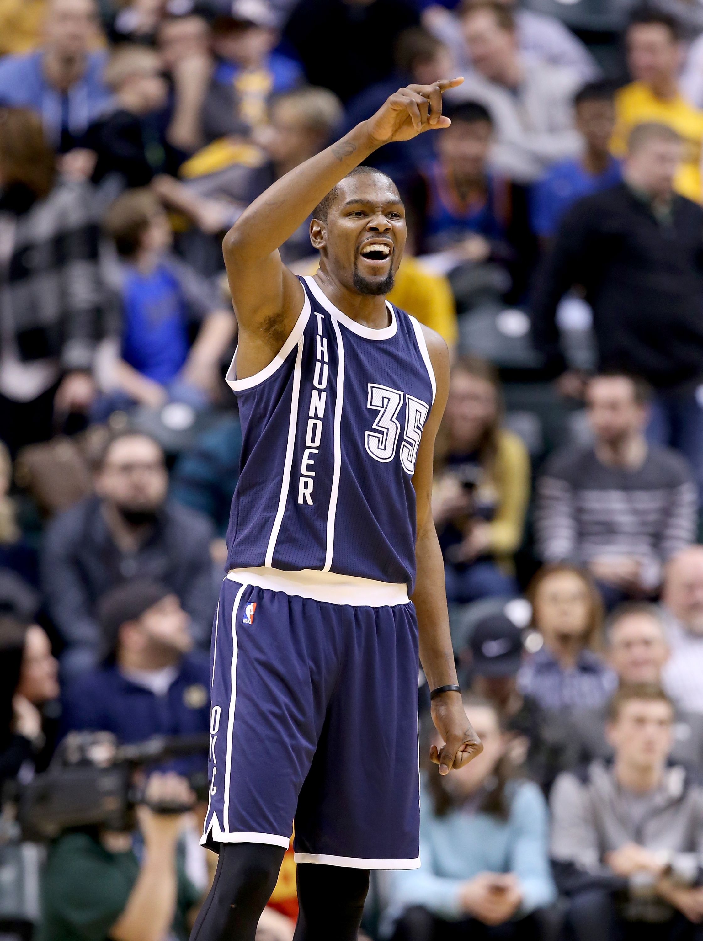 5cc94780521a Kevin Durant waves to his superstar friends. (Andy Lyons Getty Images)