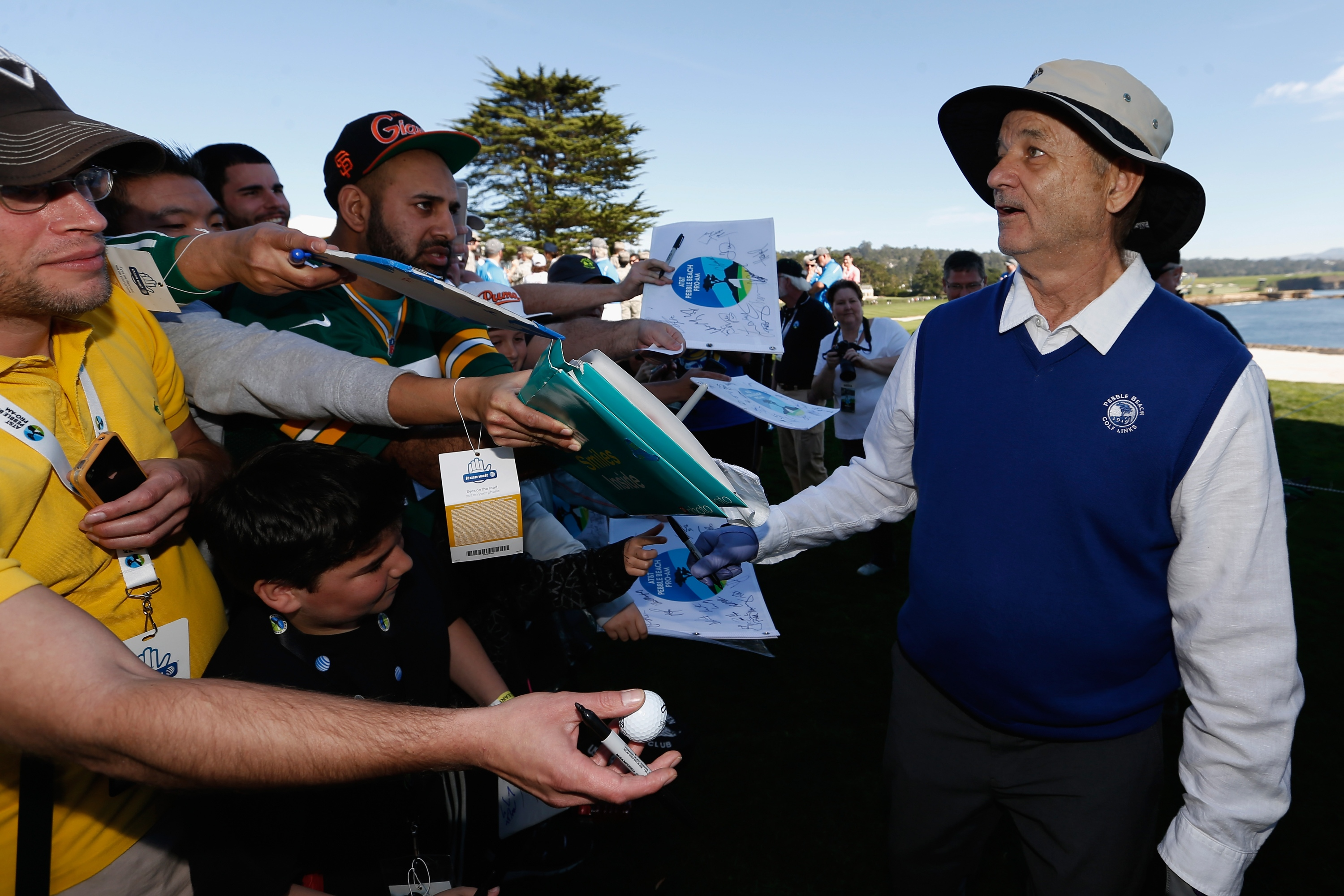 Comedian Bill Murray at the AT&T Pebble Beach Pro-Am on Wednesday. (Getty Images)
