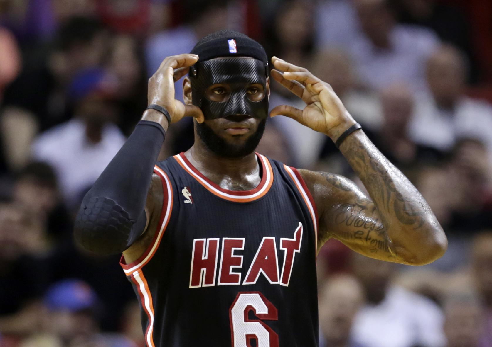 The NBA put the kibosh on LeBron James' black mask