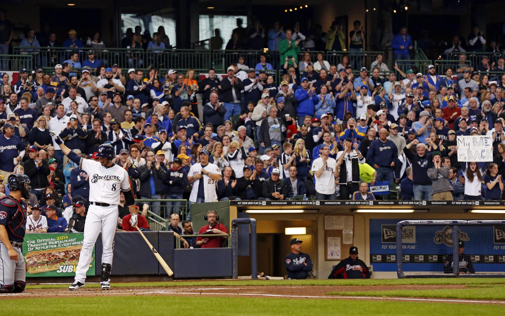 Ryan Braun gets standing ovation from Brewers fans in return fr…