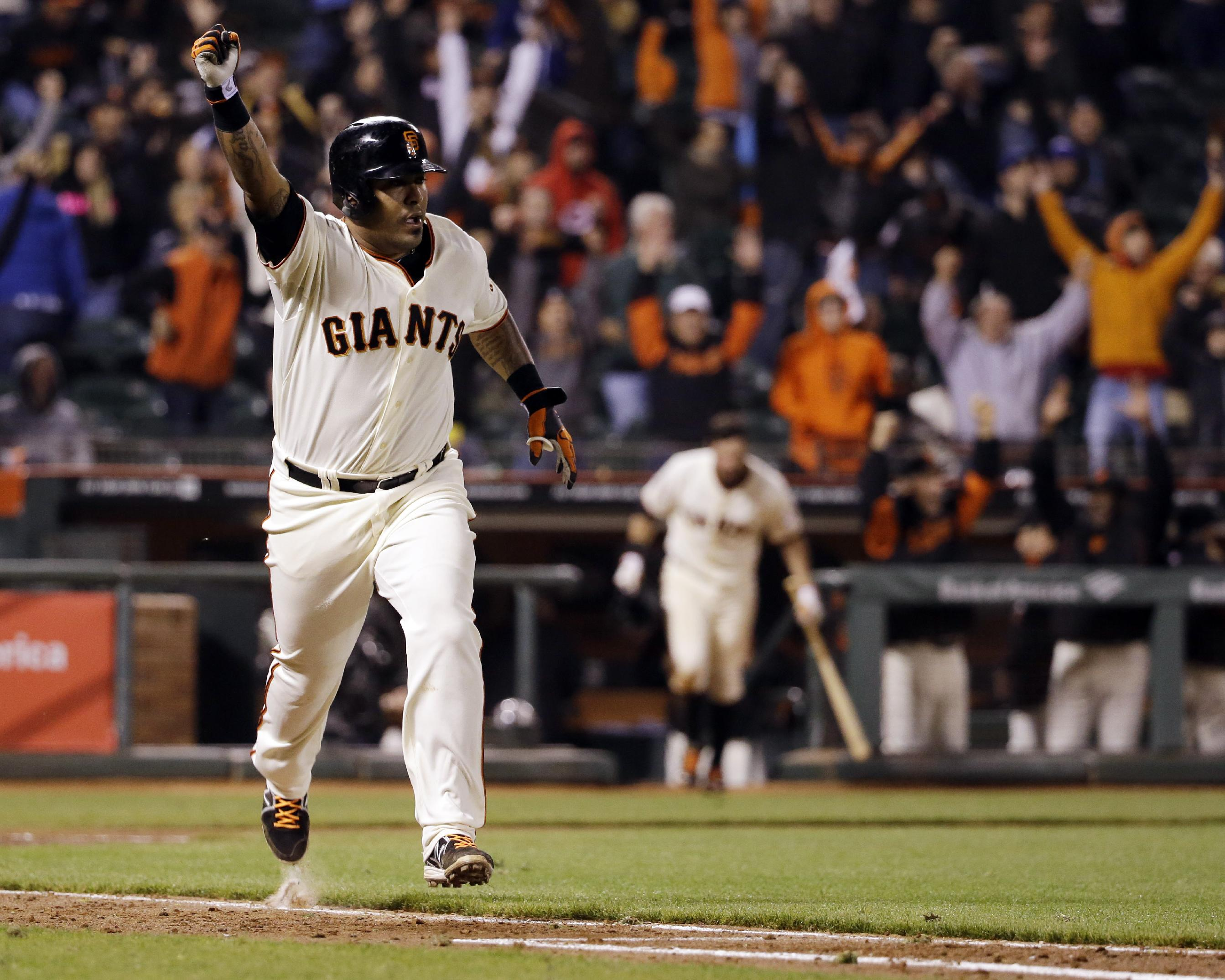 The Grand Slam: Nearly 5 hours later, Hector Sanchez single bea…