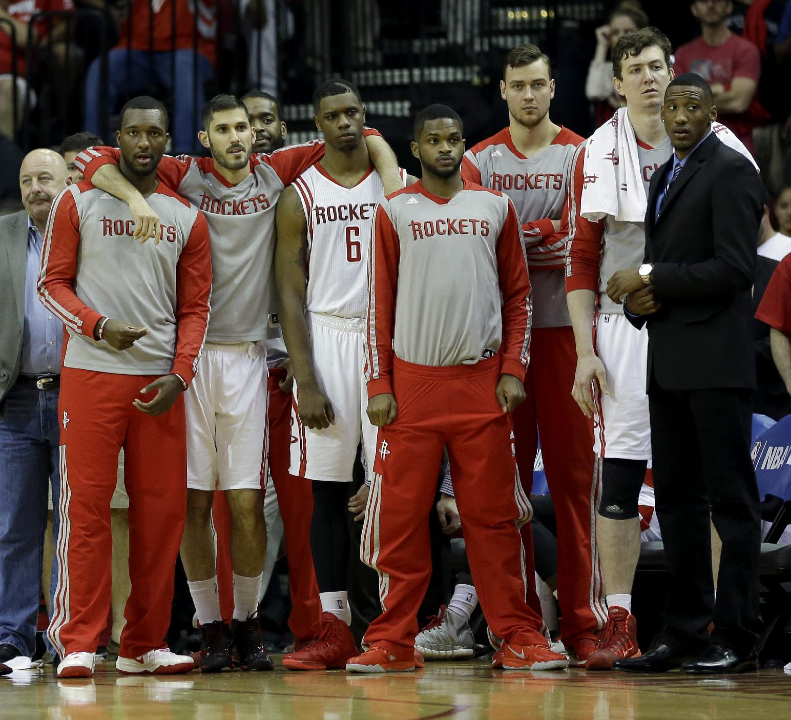 The 10-man rotation, starring the Rockets' reserves and the pot…