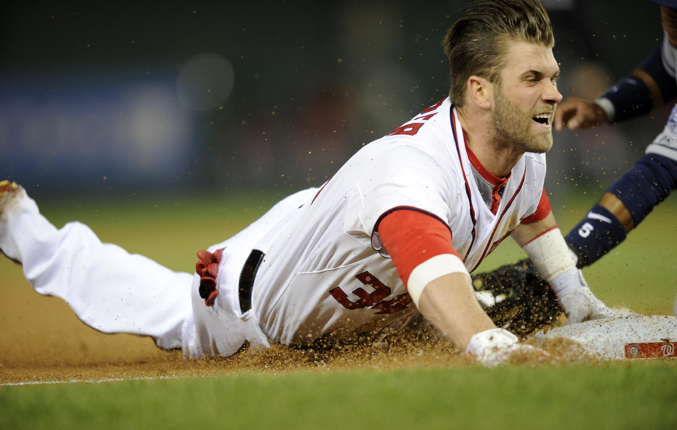 Bryce Harper absent from Nationals lineup after injuring thumb …