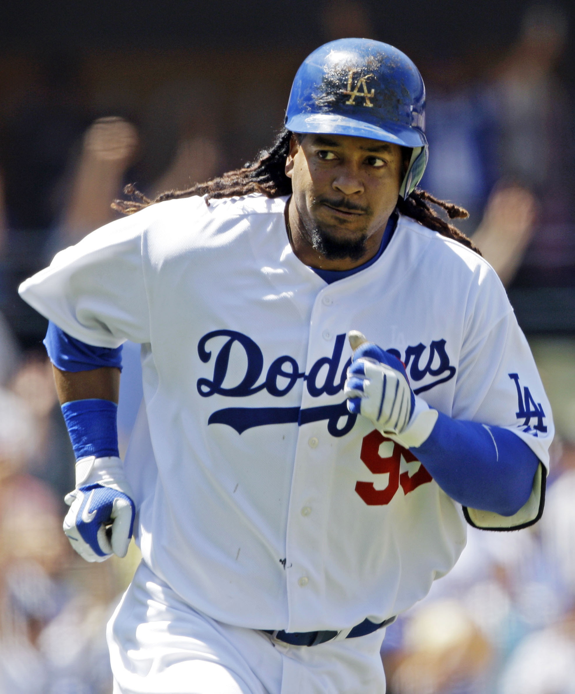 Ramirez in 2009 with the Dodgers. (AP)