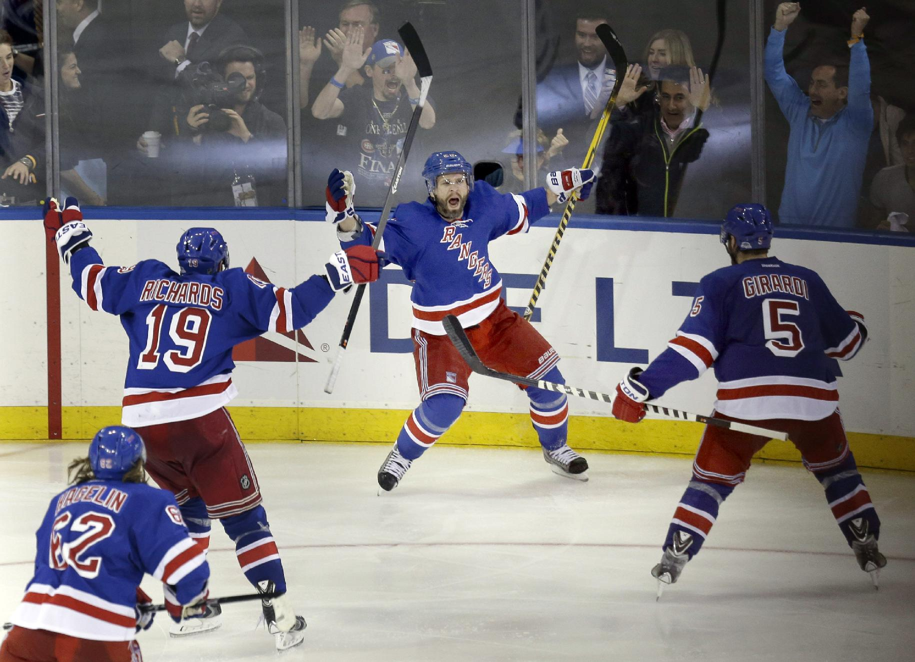 Marty St. Louis wins Game 4 in OT; Rangers take 3-1 lead on Mon…