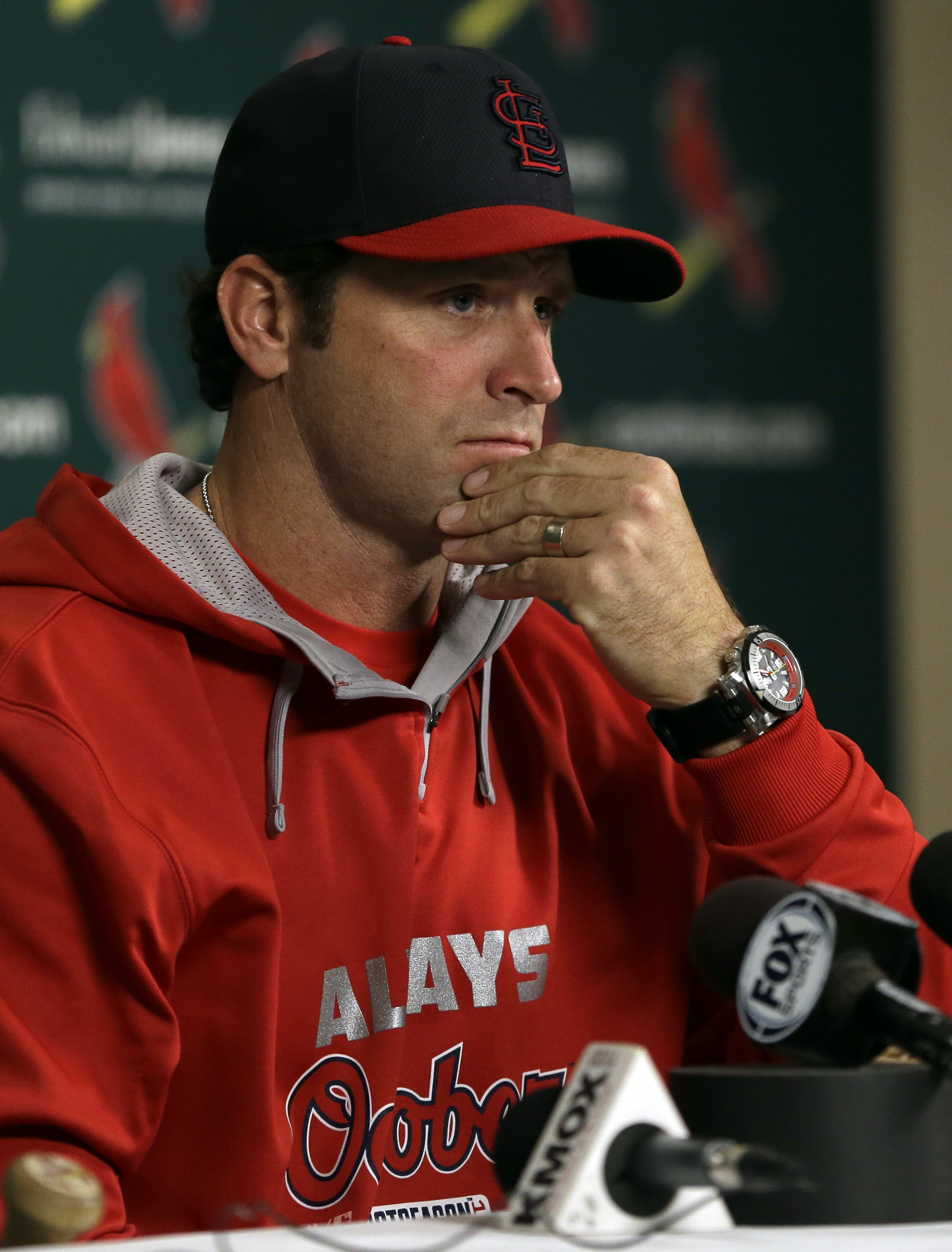 St. Louis Cardinals manager Mike Matheny. (AP Photo/Jeff Roberson)