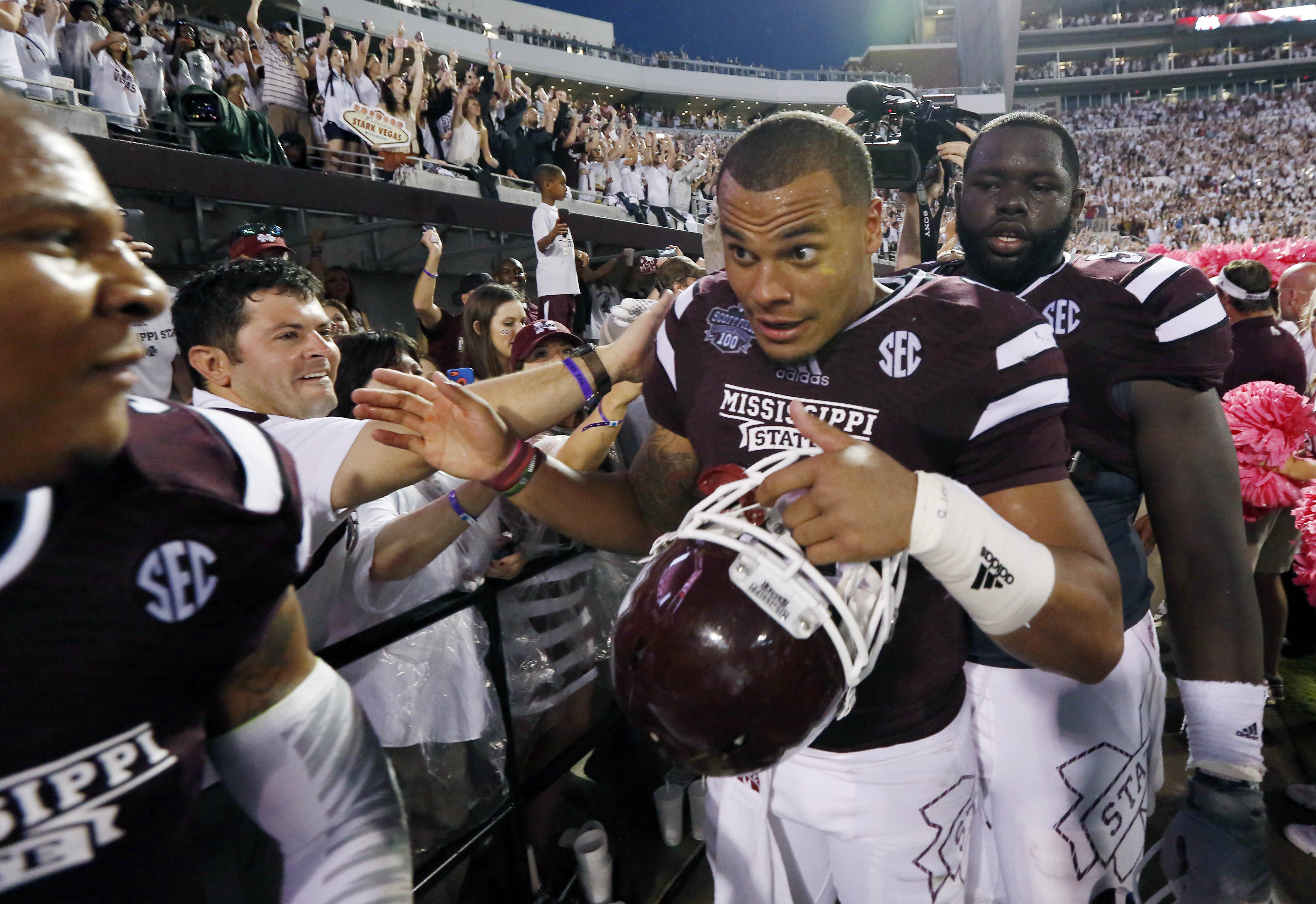 Mississippi State's Dak Prescott remains at the forefront of the Heisman conversation. (AP)