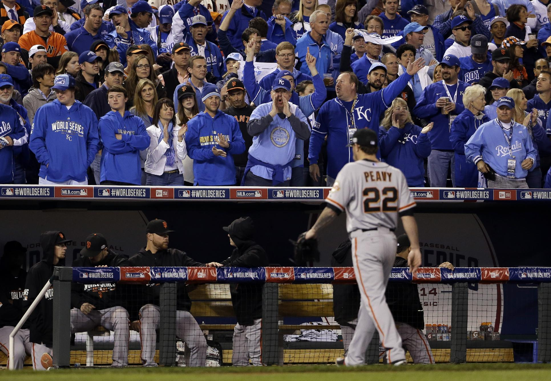 Jake Peavy had an incredibly short outing in Game 6 of the World Series. (AP)