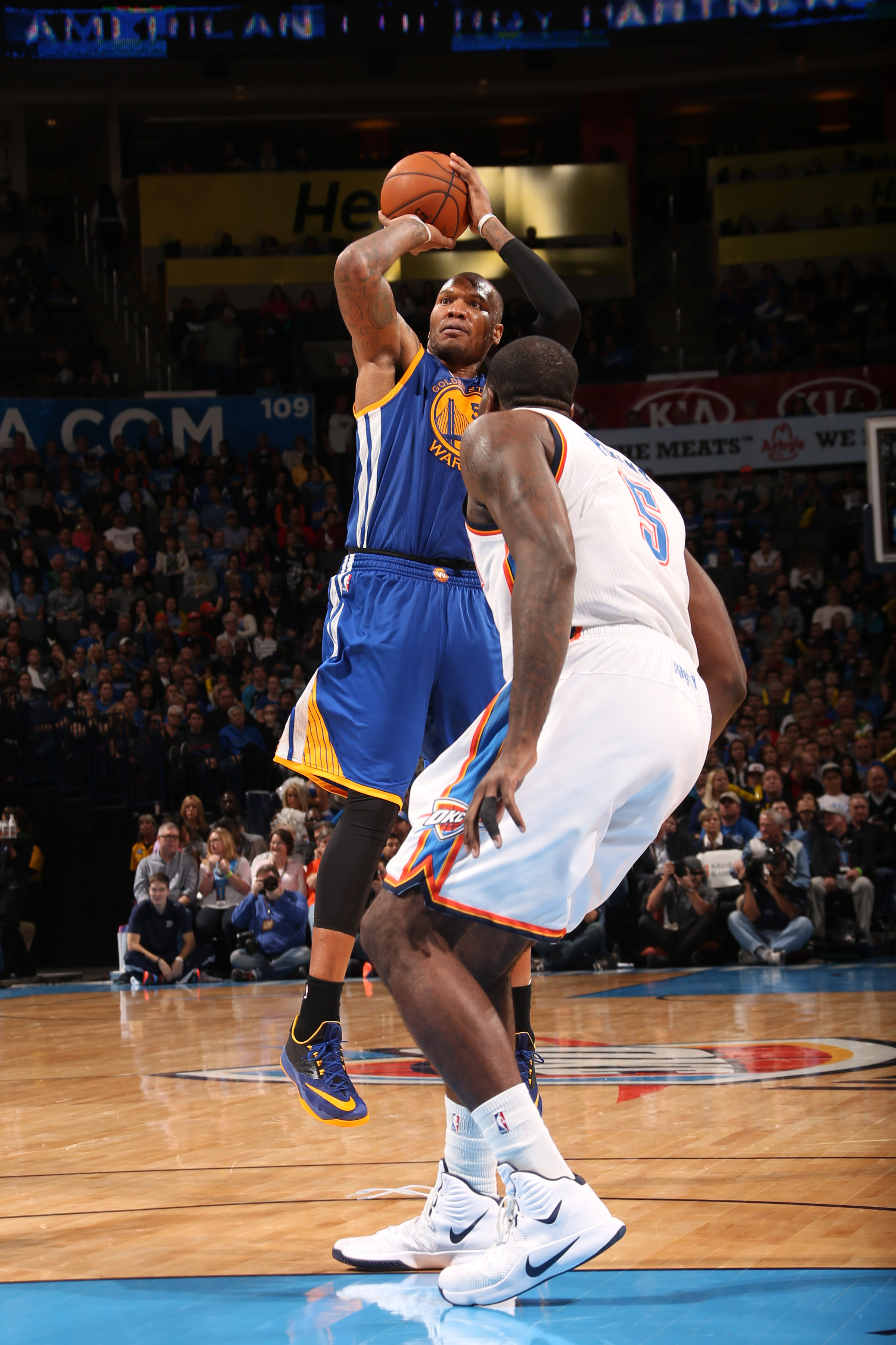 Warriors' Speights on OKC's Perkins: 'His game is terrible'
