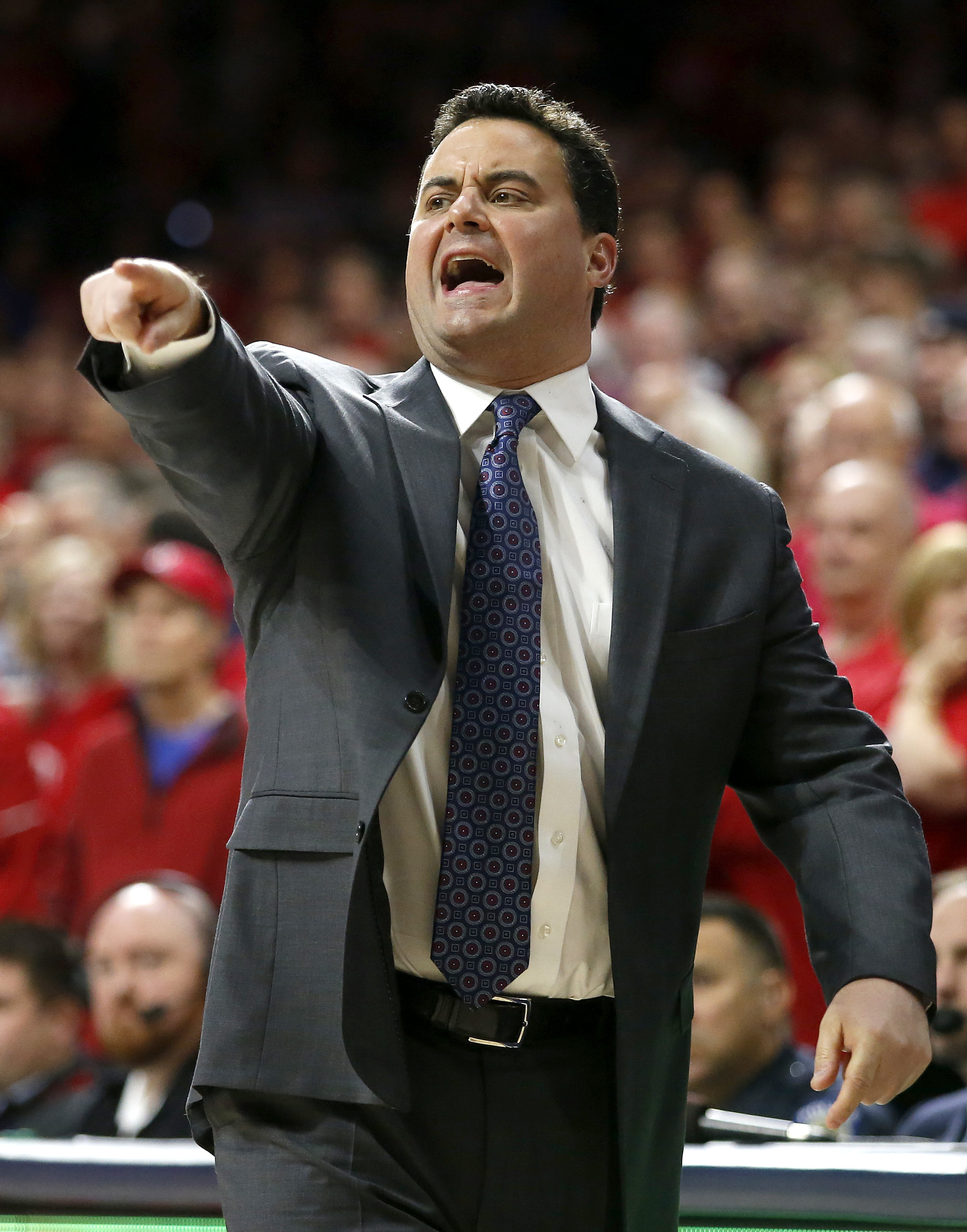 Arizona coach Sean Miller (AP Photo/Rick Scuteri)