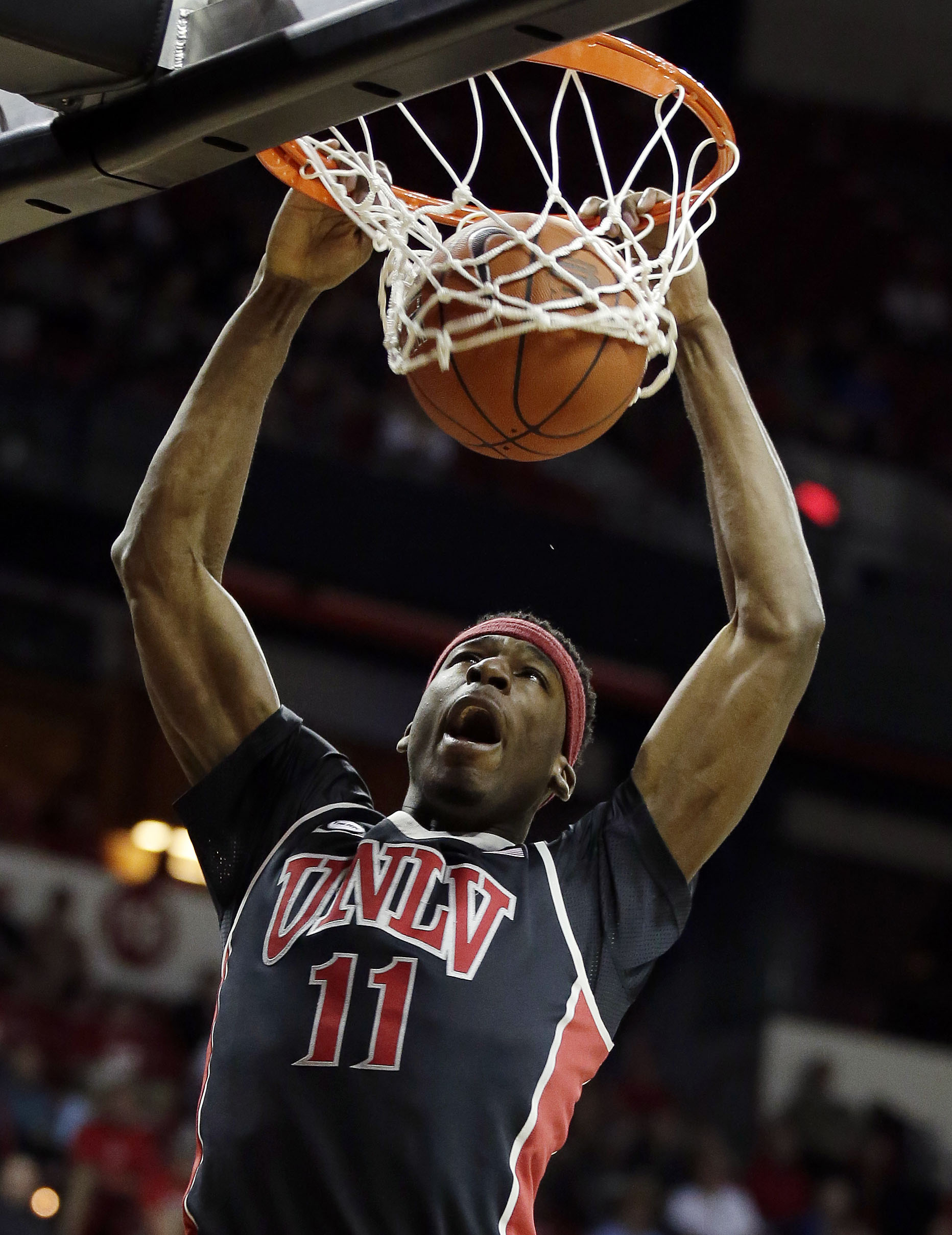 Boston native Goodluck Okonoboh is one of many UNLV players hailing from the East Coast. (AP)