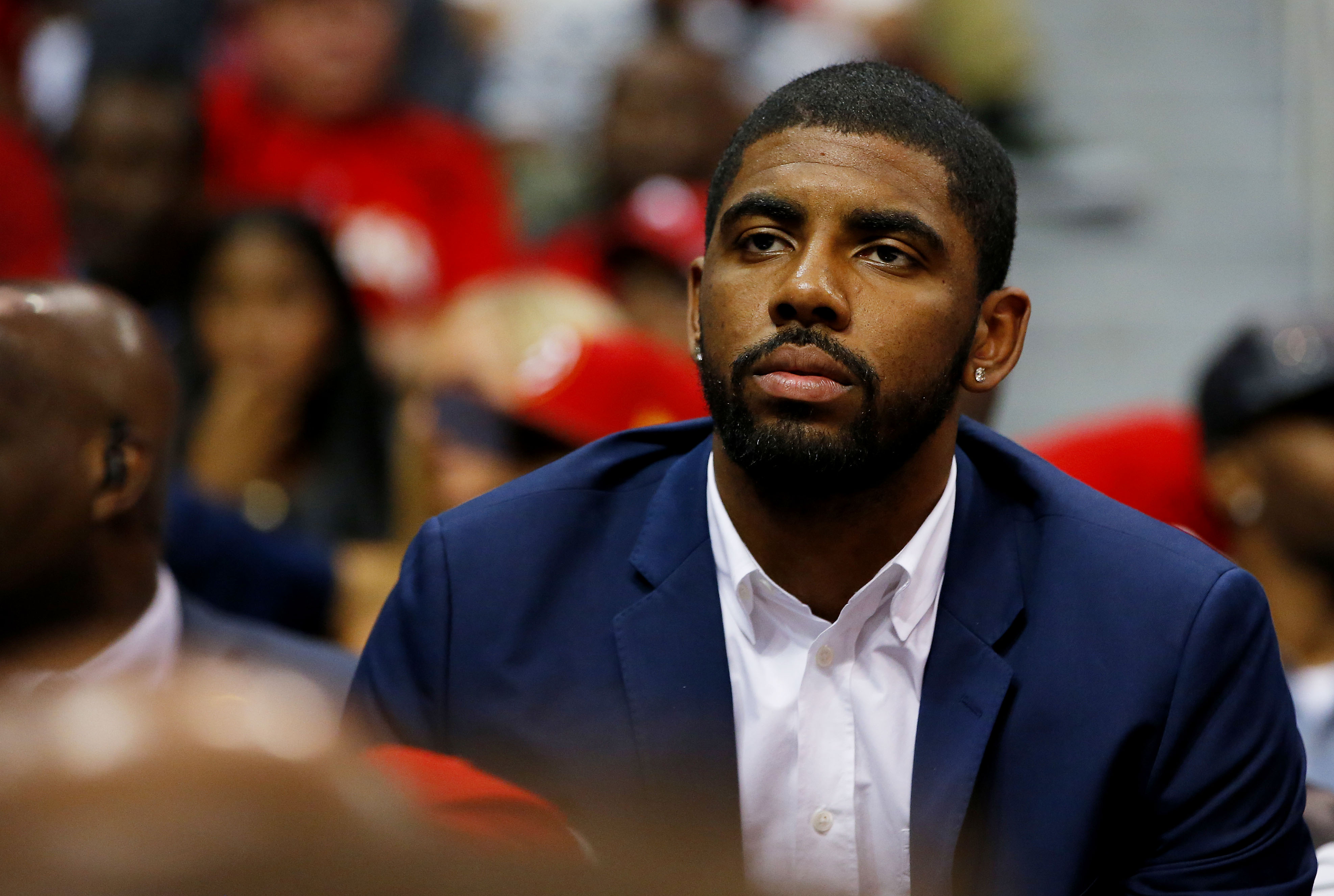 Will Kyrie Irving keep watching from the bench? (Kevin C. Cox/Getty Images)