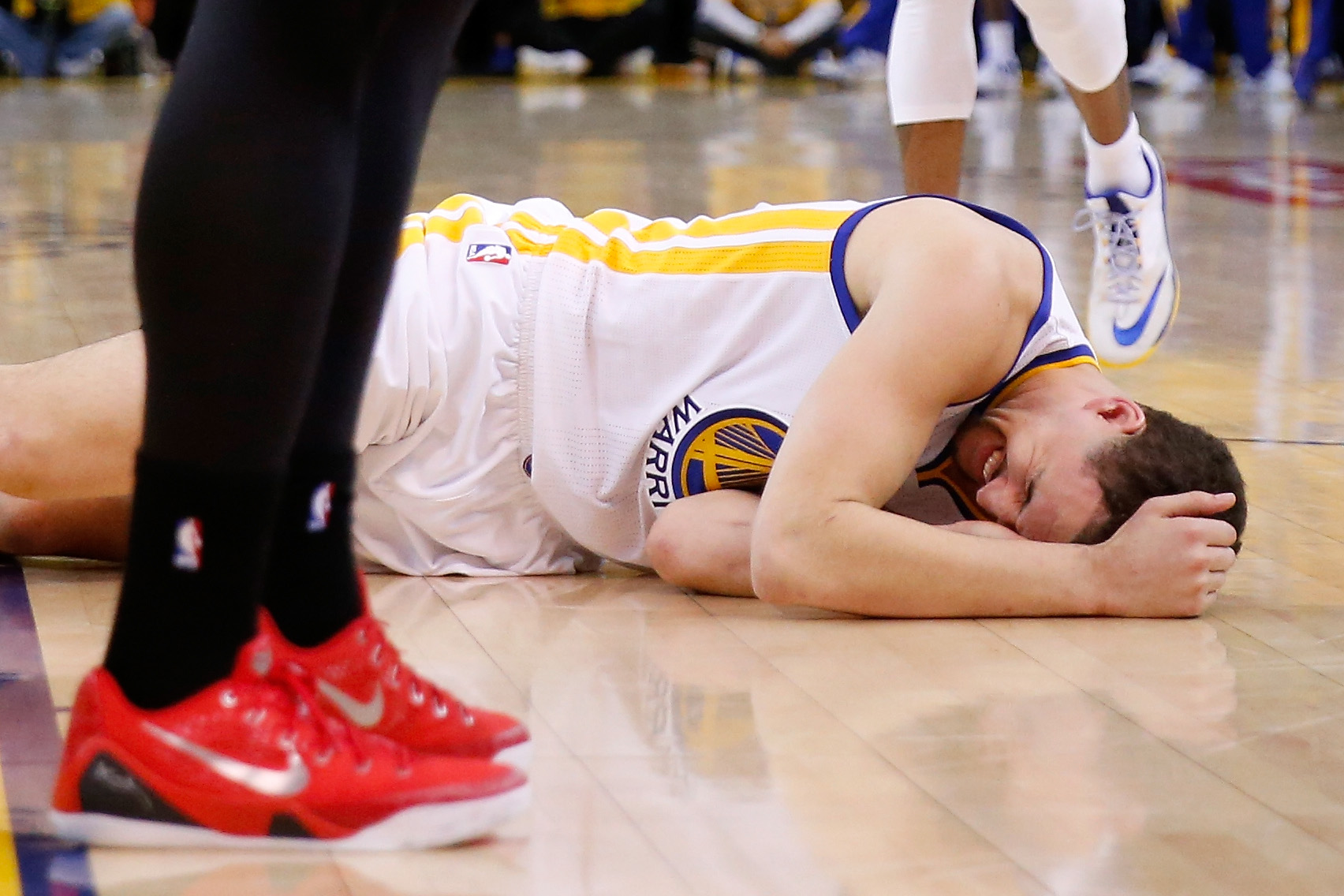 Warriors' Klay Thompson diagnosed with concussion, no timetable…