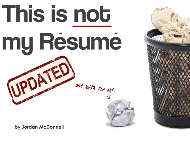 This is NOT my resume from Jordan McDonnell
