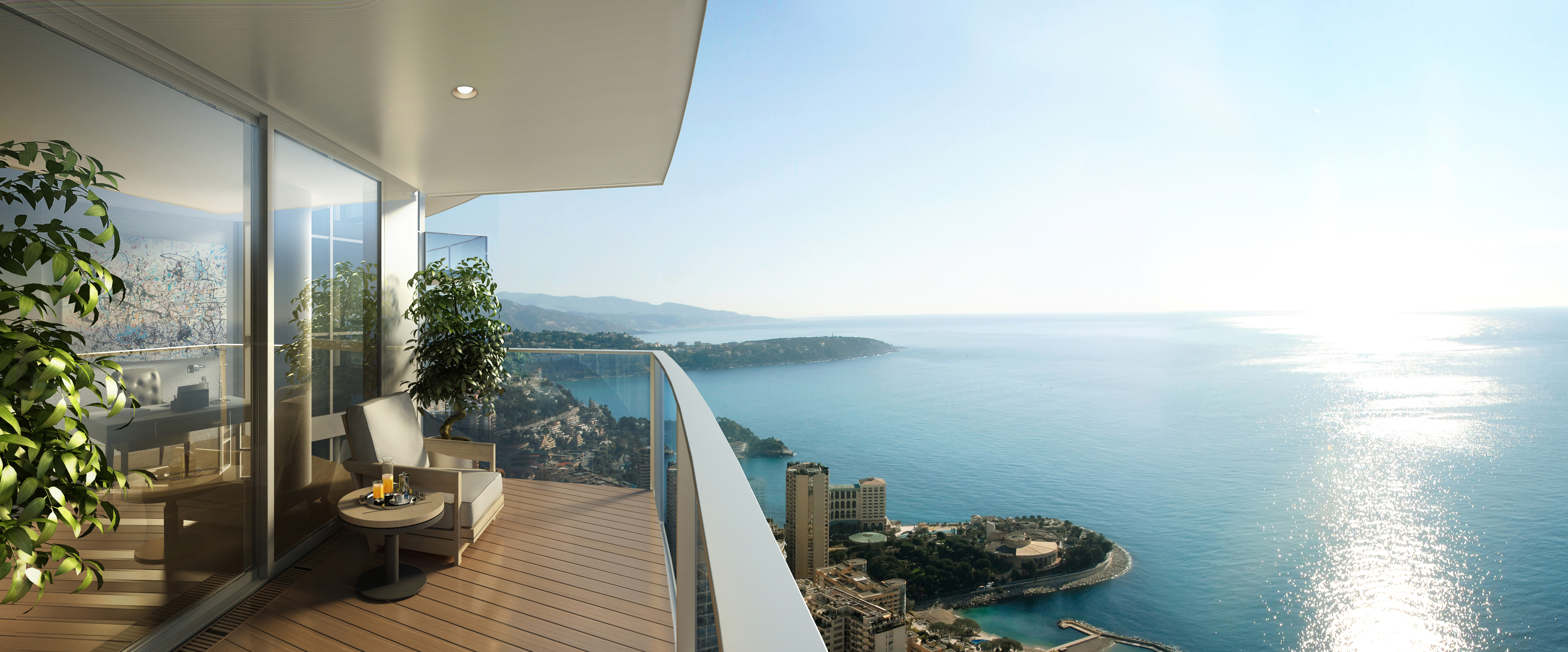 A balcony in Monaco.