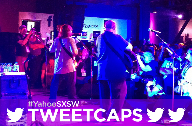 Tenacious D at Yahoo's SXSW headquarters