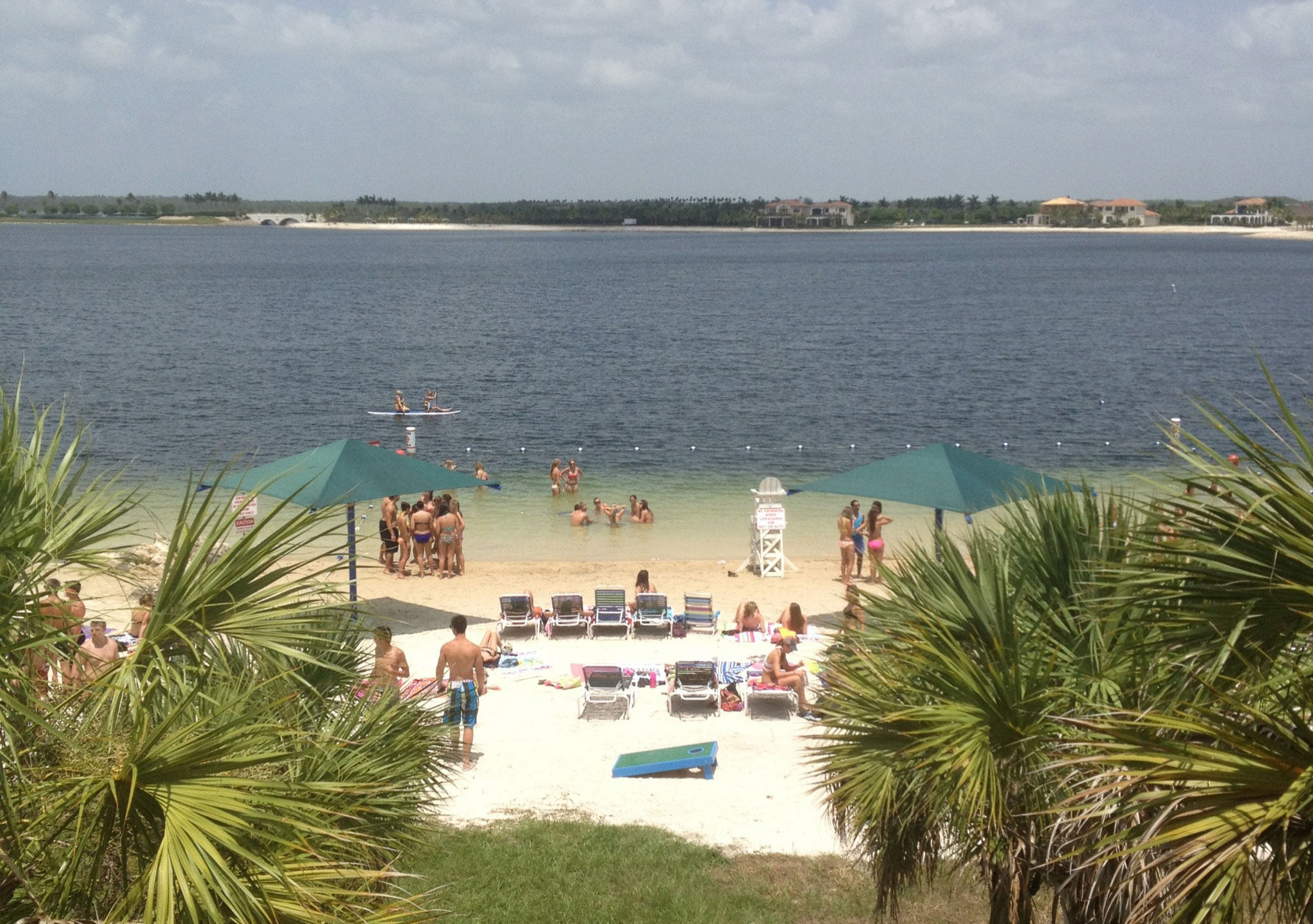 Chase Fieler's dorm room looks onto a beach at Florida Gulf Coast University. (Courtesy of Chase Fieler)
