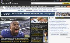 yahoo sports homepage