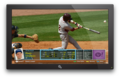 Yahoo! Sports Baseball Game Info TV App: Pitcher View