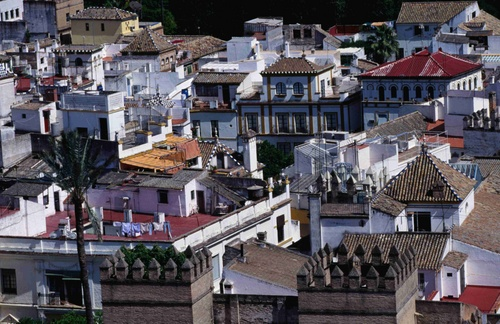 The rooftops of Seville