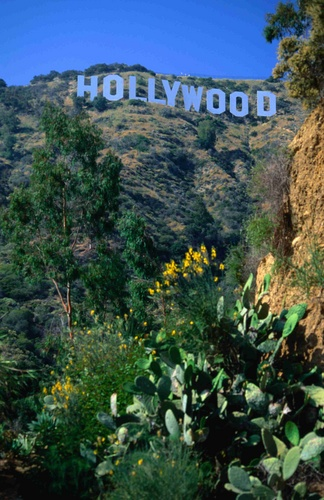 The 'Hollywood' sign (on a clear day) in Los Angeles