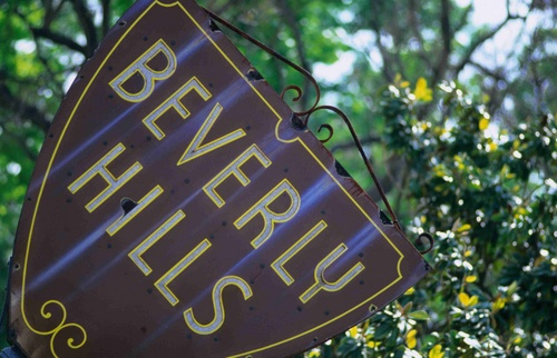 Beverly Hills city sign.