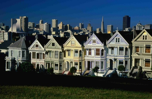 The Victorian painted ladies of Alamo Square