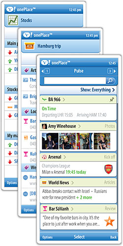 Screenshots Yahoo! OnePlace