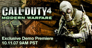Call of Duty 4 Demo Launch