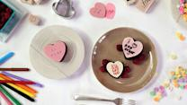 """Say """"I Love You"""" With Conversation Heart Cakes"""