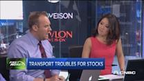 Transports trouble for stocks?
